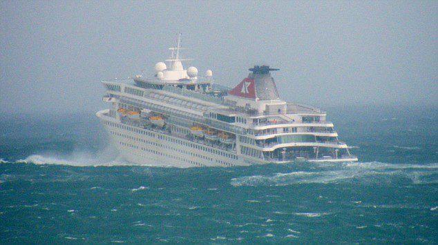 Cruise Ship In Storm  Cruise Ship Balmoral Hits Rough