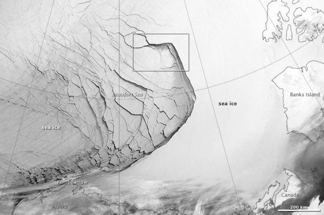 beaufort sea ice infrared