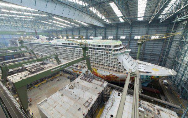 Meyer Werft Floats Out Norwegian Getaway [VIDEO ...