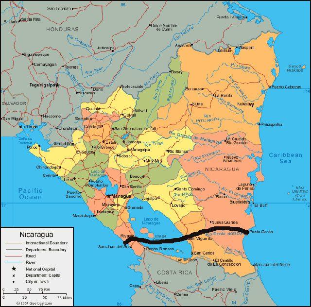 Nicaragua Approves 40 Billion Canal Route GCaptain