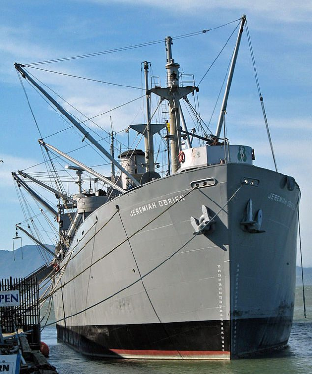 SS Jeremiah O'Brien at San Francisco's pier 45. Photo credit: Wikimedia Commons