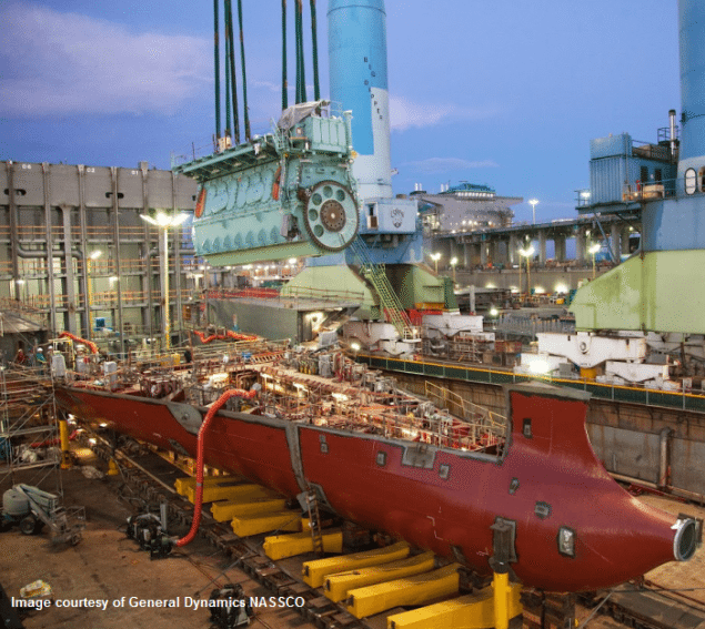 The 8L70ME-C8.2GI engine was built under license from Doosan Engine in South Korea and delivered to the shipyard in July.