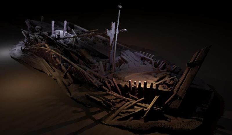 Photogrammetric model of a wreck from Ottoman period. Credit: EEF/Black Sea MAP