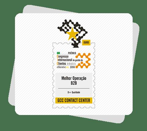 GCC Troféu Ouro no Prêmio ClienteSA 2018