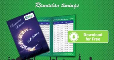 UAE Ramadan Timings