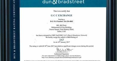 GCC Exchange Certified with Dun & Bradstreet Ratings