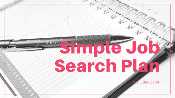 Simple Job Search Plan