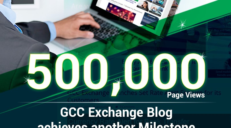 GCC Exchange achieves another milestone– 500,000 Page Views on its Blog