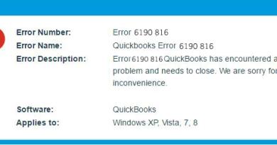 How to Fix QuickBooks Error 6190 and 816
