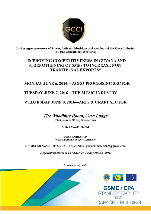 Invitation for Pre-Consultancy Workshops