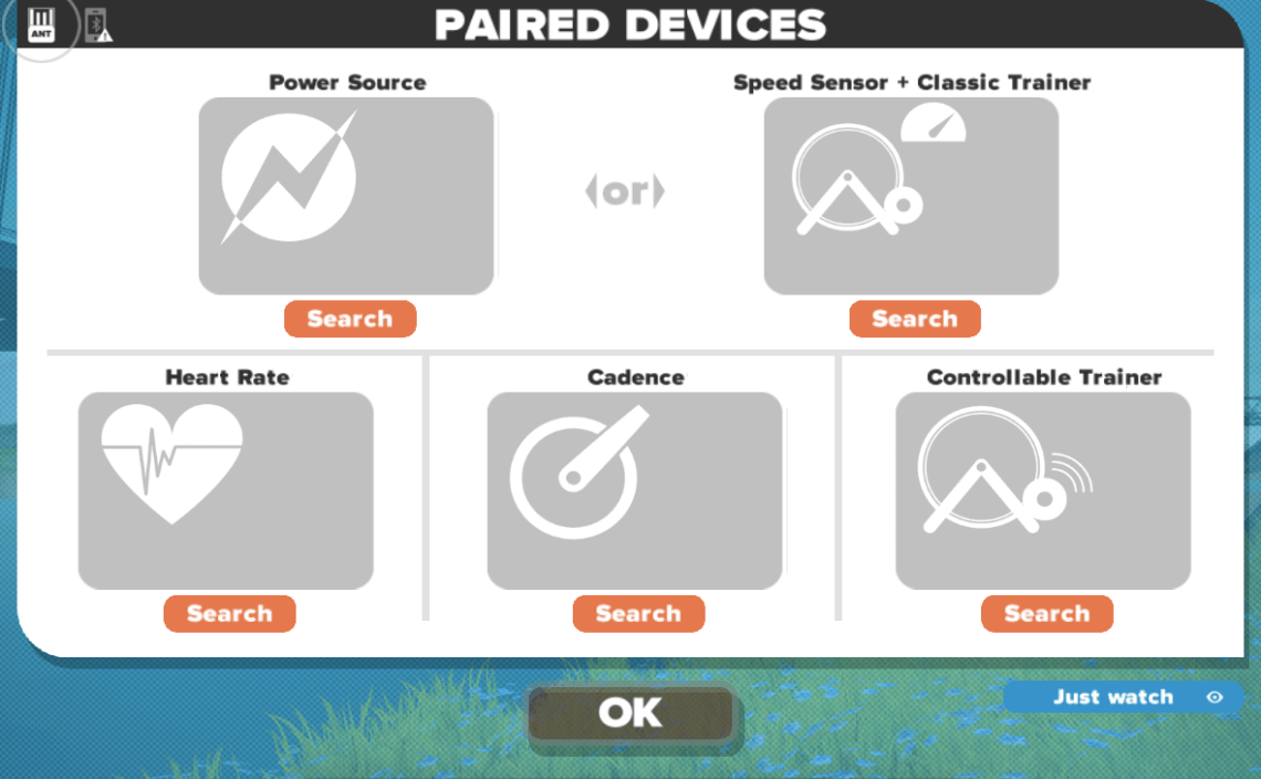 Zwift Paired Devices