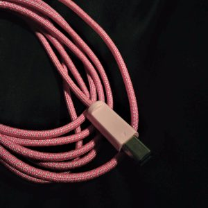 Neon Pink Diamonds Swappable Paracord with Pastel Pink Plug