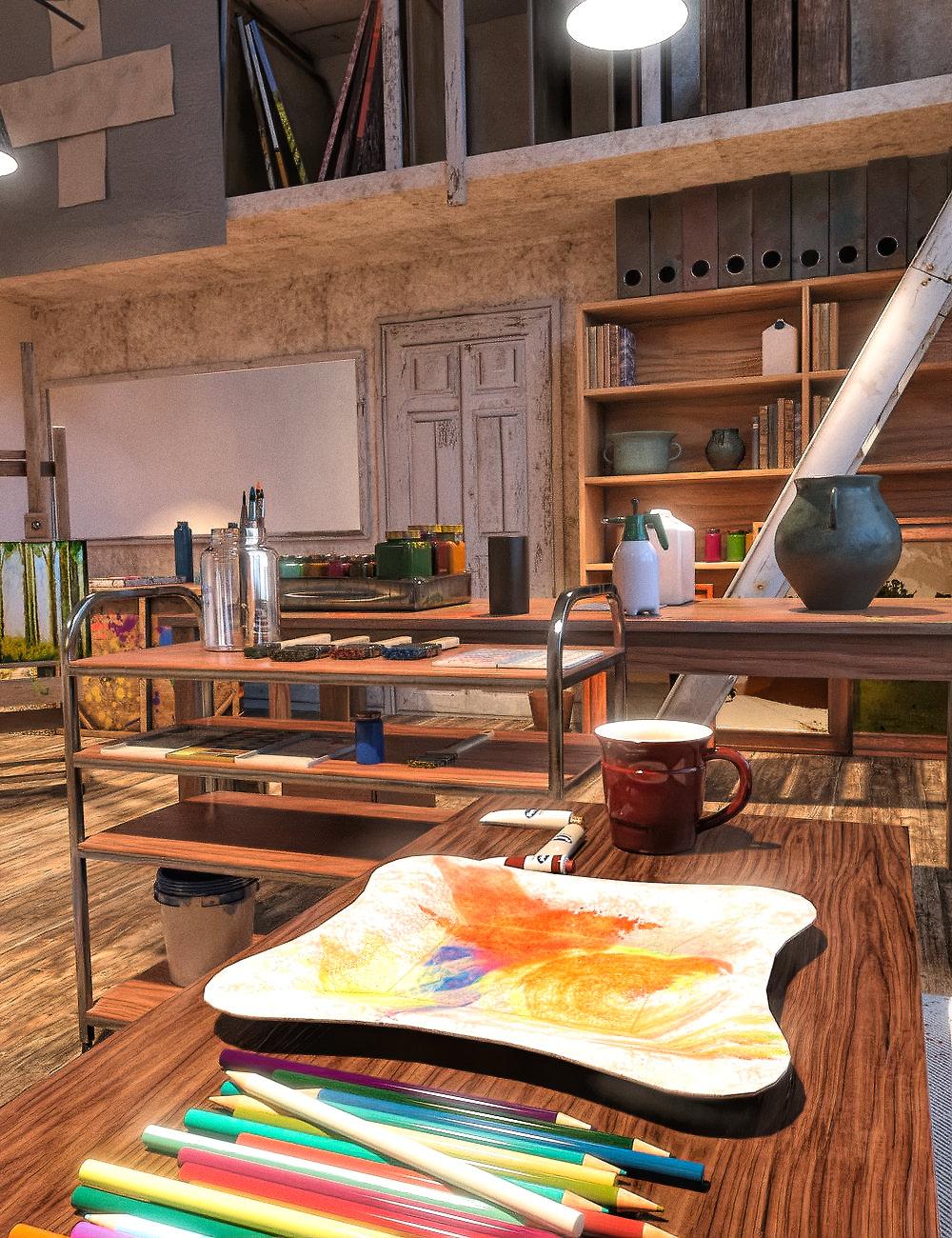 FG Painting Studio by: Fugazi1968Ironman, 3D Models by Daz 3D