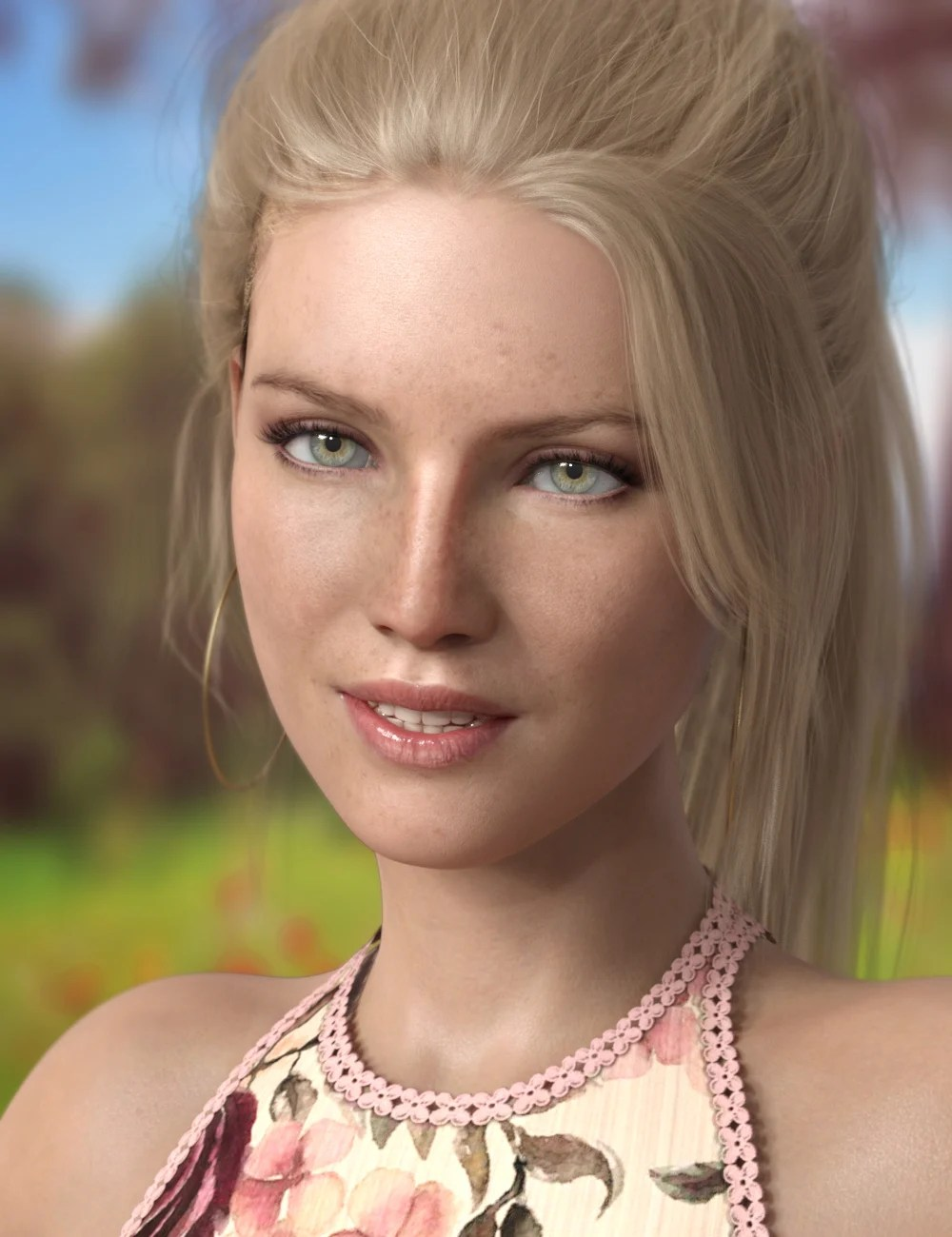 P3D Sigrid HD for Genesis 8 Female by: P3Design, 3D Models by Daz 3D