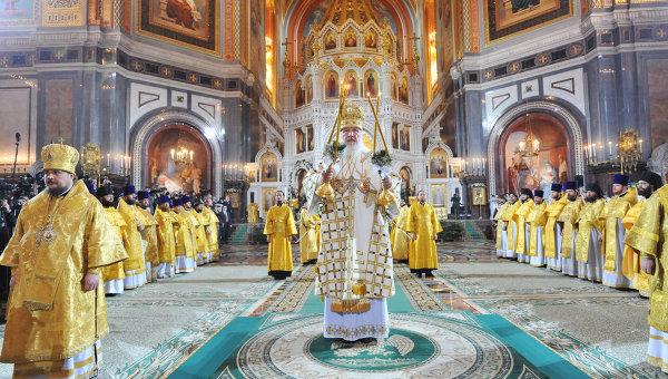 Cristianos ortodoxos celebrando la Navidad en Rusia.