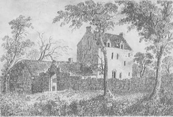 Un dibujo de Bargarron House, lugar donde se produjo la posesión demoníaca de Christian Shaw.