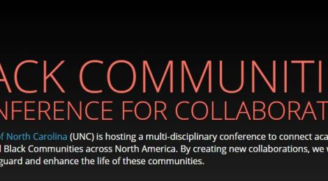 Call for proposals : Black Communities: A Conference for Collaboration due 11/14