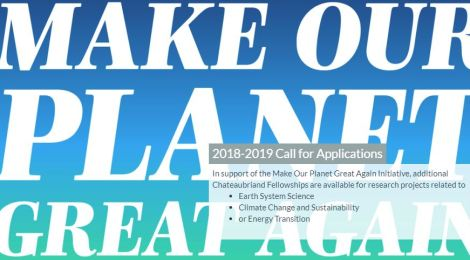 Make our Planet Great Again: 2018-2019 STEM or HSS Chateaubriand Fellowship