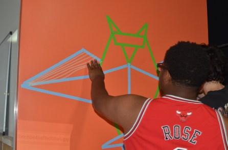 Masking tape mural.