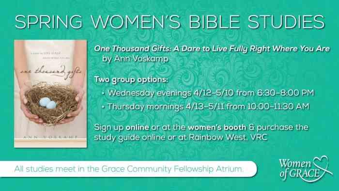 Spring 2016 Women's Bible Studies