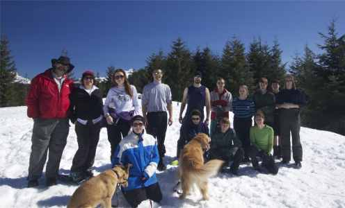 Snowshoeing to Mountain View Shelter