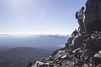 Climbing Diamond Peak