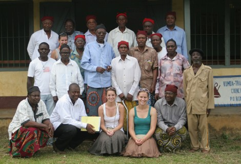 CAM's interns with Kumba Council, 2008