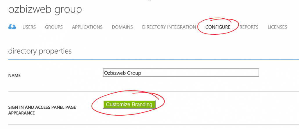 Configure Azure Active Directory And Customise Branding
