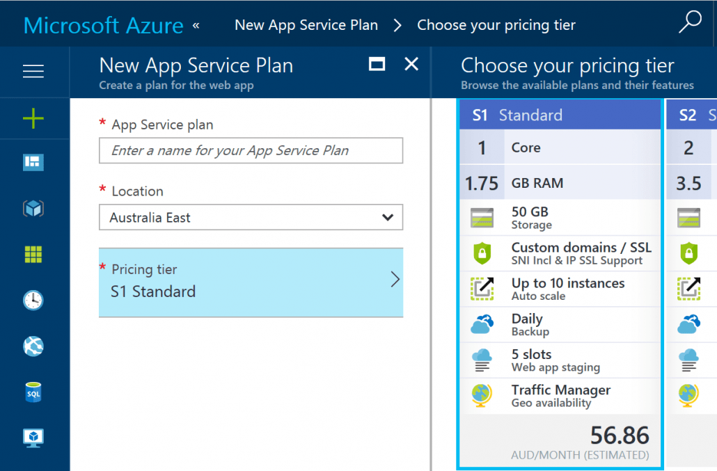 Create A New App Service Plan For Azure Functions