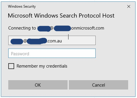 Remove the Microsoft Windows Search Protocol Host prompt - GCITS