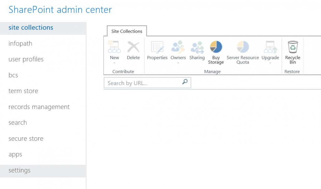 Open SharePoint Admin Center Settings
