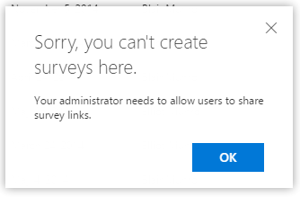 Sorry, you can't create surveys here