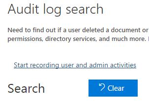 Start recording user and admin activities
