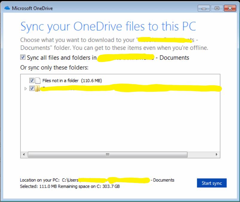Sync Files Via OneDrive