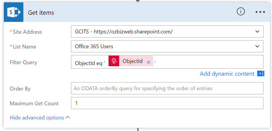 Using Filter Query Expression In Microsoft Flow