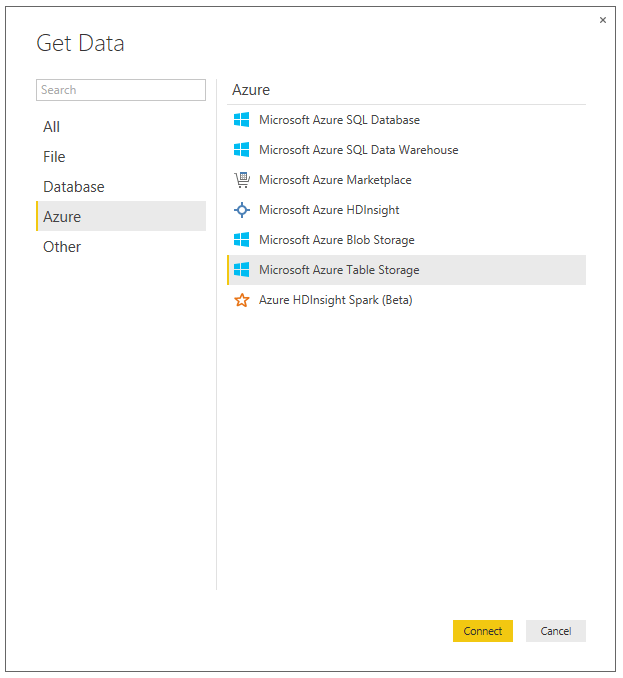 Get Data in Power BI