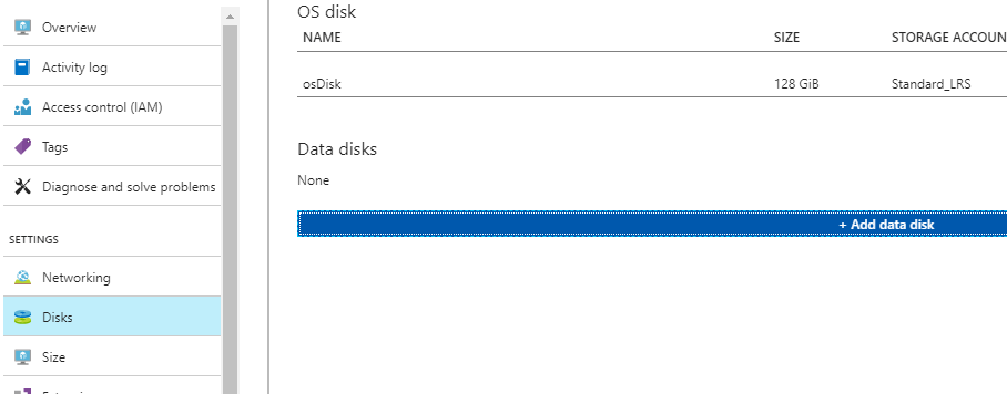 Add Additional Azure Data Disk