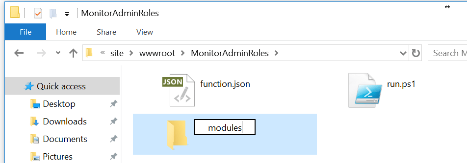 Create Modules Folder Via FTP in Function