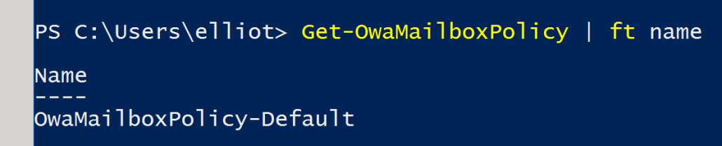 Get-OwaMailboxPolicy Powershell for Conditional Access