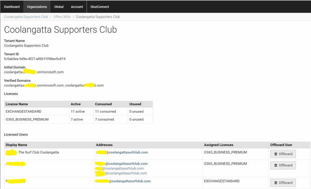 Office 365 Customer Information In IT Glue