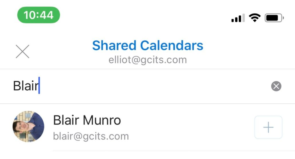 Search For A Shared Calendar In Outlook For IOS