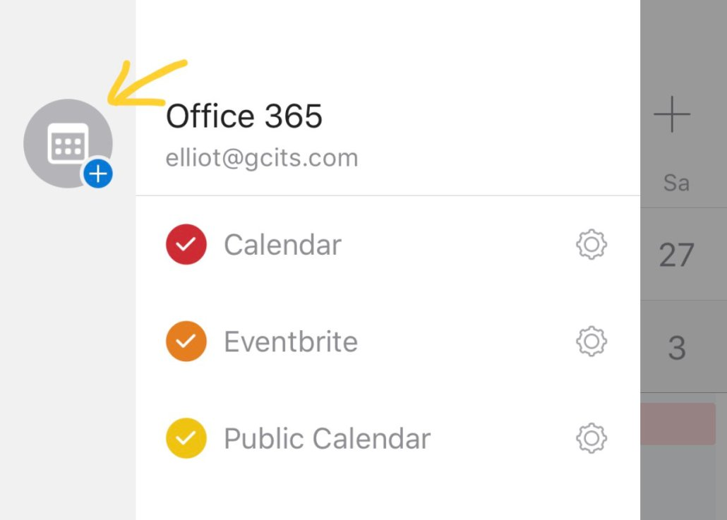 Tap Add Calendar In Outlook For IOS