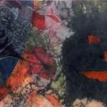 "Denile, 18x12"", collagraph by Garry C Kaulitz"