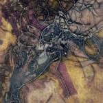 """Delta, 11x19"""", collagraph by Garry C Kaulitz"""