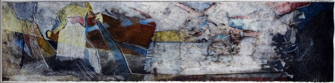 """Maybe, 30x7"""", collagraph by Garry C Kaulitz"""
