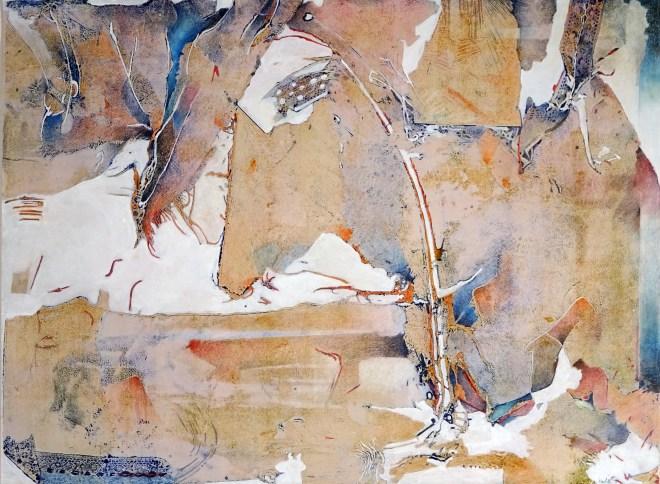 "Circus I, 30x22"", collagraph by Garry C Kaulitz"