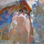 "Gate Keeper, 19x15"", collagraph by Garry C Kaulitz"