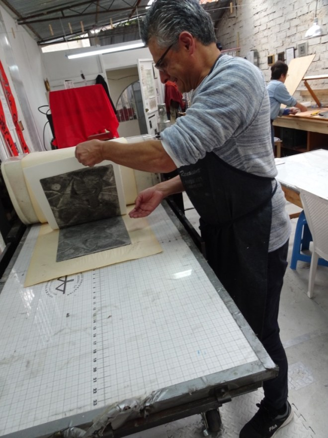Boris working at Kaulitz Press, Workshop and Residency