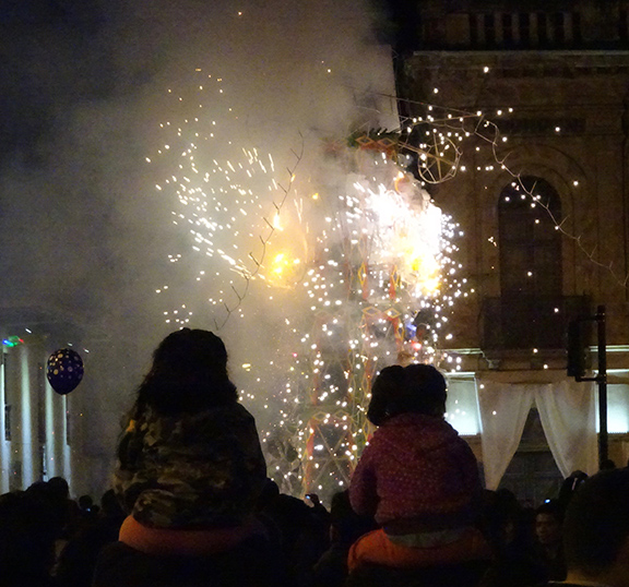 Fireworks in Cuenca, Ecuador, home of Kaulitz Press, Workshop and Residency