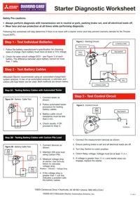 Starter Diagnostics Worksheet
